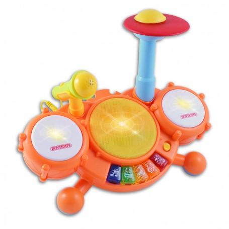 BABY BATTERIA DIGITALE CON MICROFONO TOY BAND BONTEMPI 521025