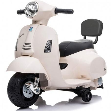 MOTO ELETTRICA PER BAMBINI MINI VESPA GTS PIAGGIO BIANCA 6V CON SCHIENALE, LUCI E SUONI 00120014