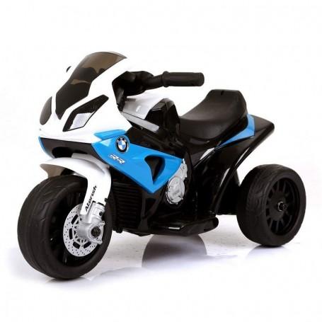 - MOTO ELETTRICA PER BAMBINI BMW S1000 RR BLU A 3 RUOTE CON SUONI E LED LMT LT883/236